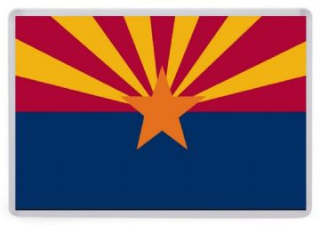 Arizona State Flag Fridge Magnet. USA